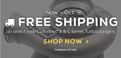 Free Shipping on select turbos, click here to shop
