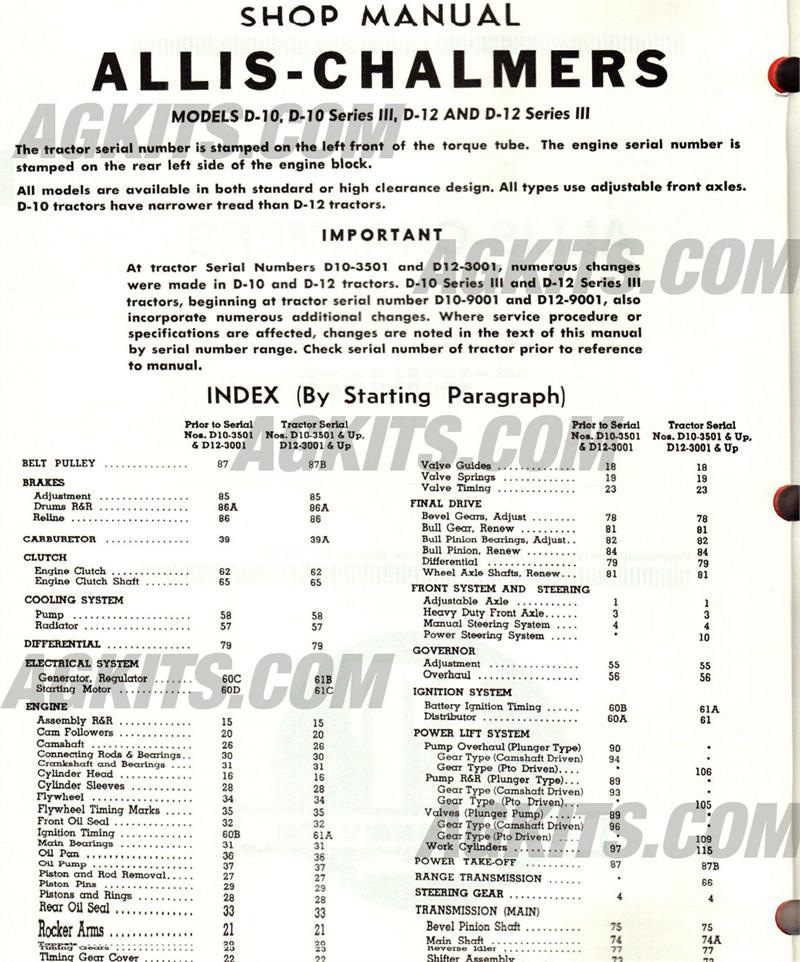allis chalmers tractor repair manual. Black Bedroom Furniture Sets. Home Design Ideas