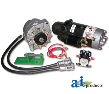 CONVKITPARTS john deere 24v to 12v starter conversion kit john deere 4020 24v to 12v conversion wiring diagram at fashall.co