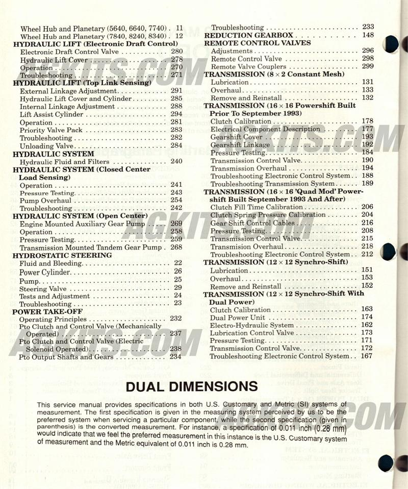 Ford New Holland Tractor Repair Manual