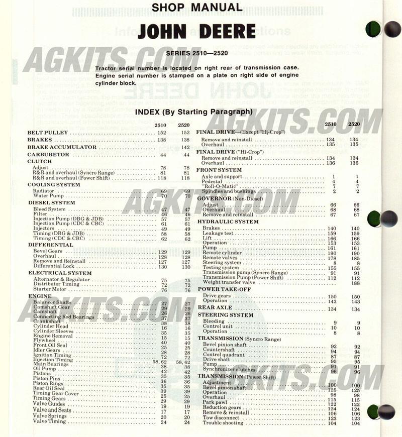 john deere 7410 repair manual