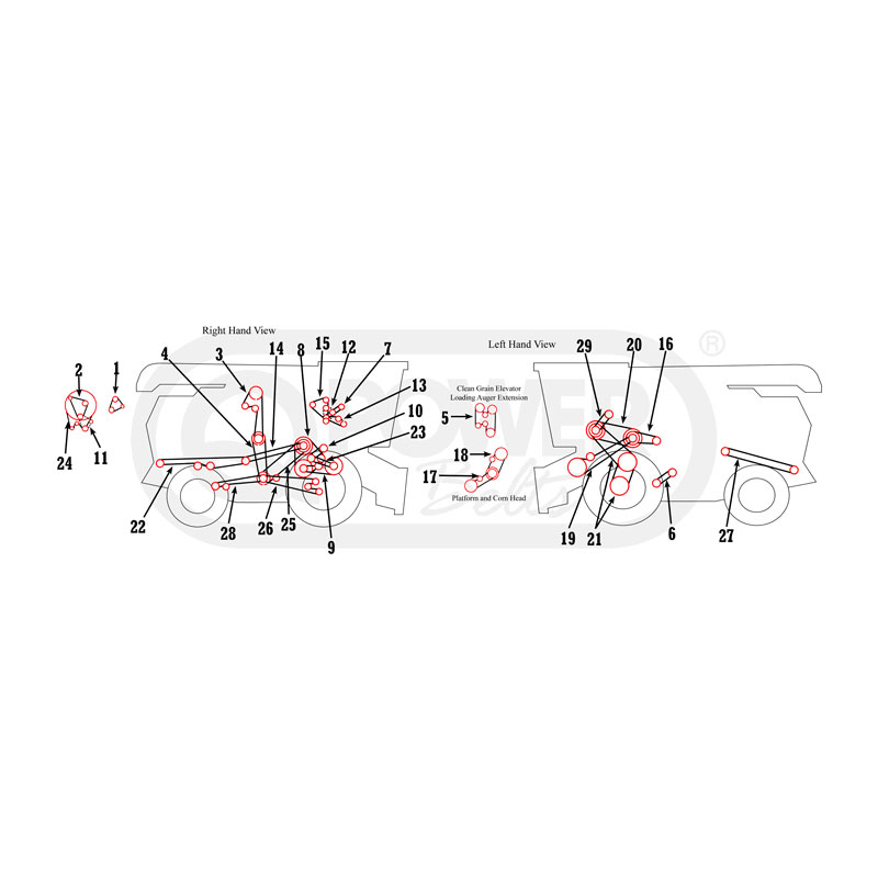 John Deere 3300 4400 Combine Belts