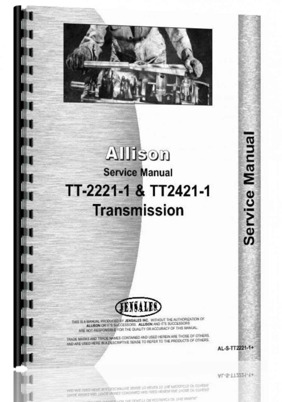 allison tt2221 1 transmission service manual rh agkits com
