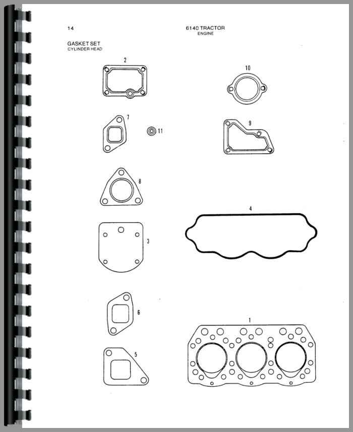 allis chalmers 6140 tractor parts manual