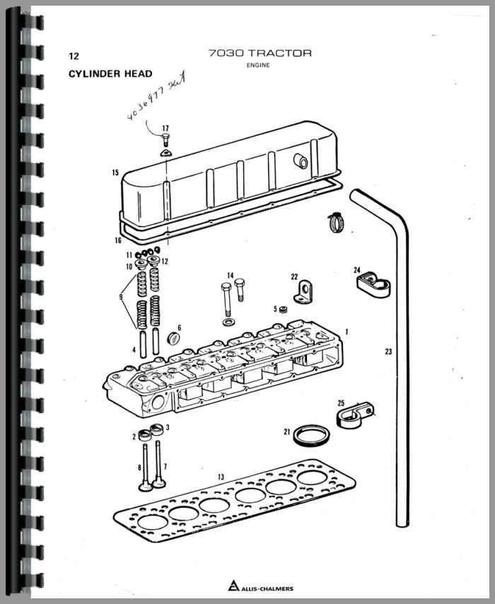 allis chalmers 7030 tractor parts manual