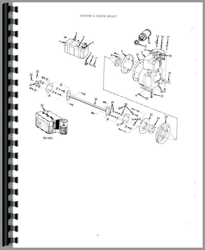Allis Chalmers B 110 Lawn Garden Tractor Parts Manual