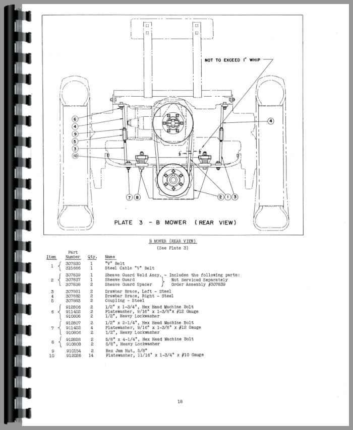allis chalmers c sickle bar mower operators  u0026 parts manual