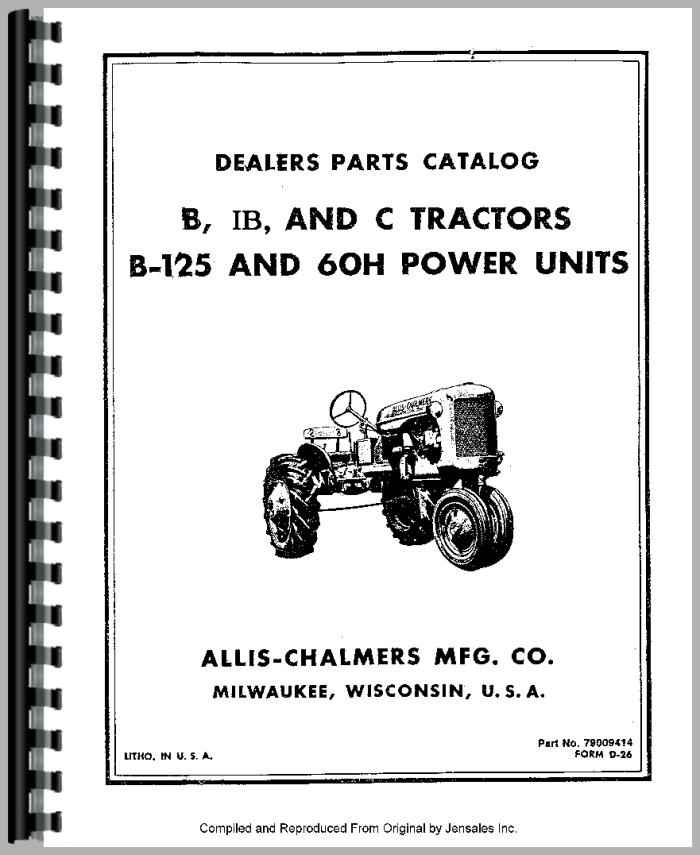 AllisChalmers C Tractor Manual_80782_2__27890 allis chalmers c tractor parts manual