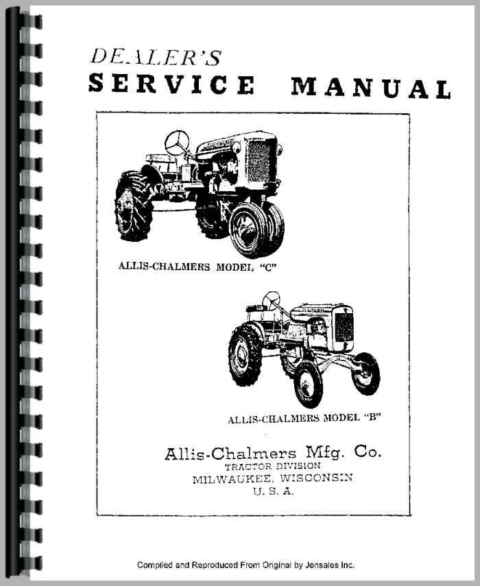 AllisChalmers C Tractor Manual_80783_2__07176 allis chalmers c tractor service manual