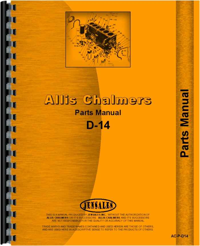 Allis Chalmers D14 Tractor Parts Manual