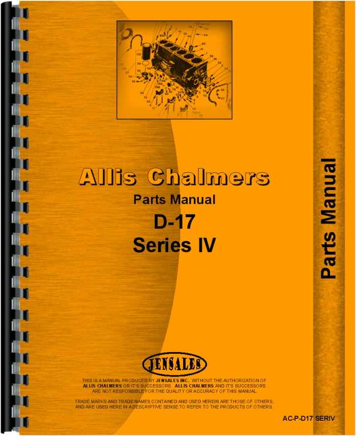 Allis Chalmers D17 Parts Diagram : Allis chalmers d tractor parts manual