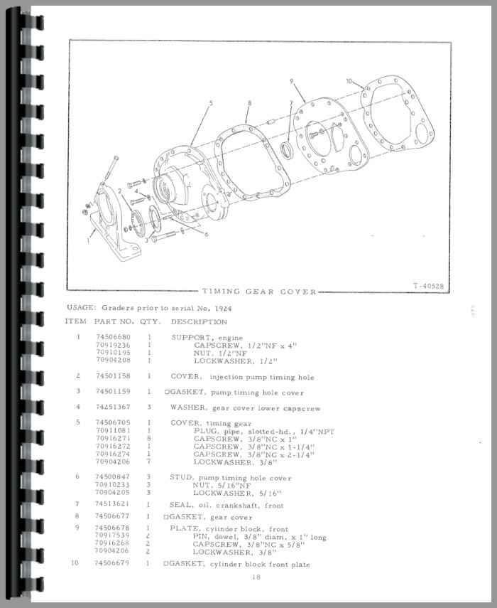 allis chalmers dd motor grader parts manual