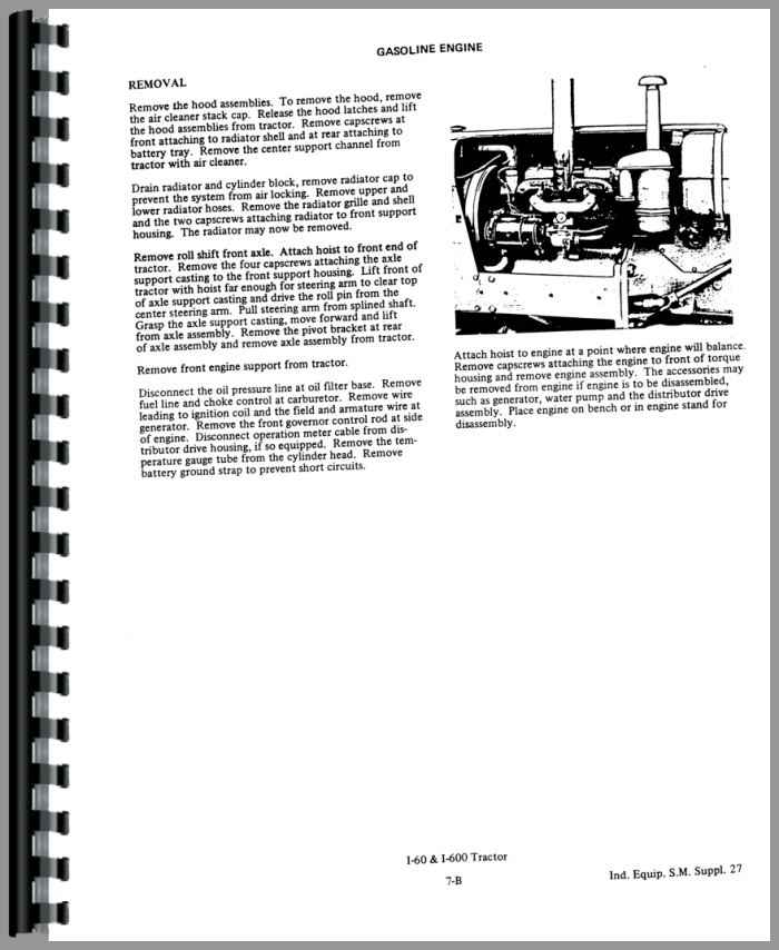 Allis Chalmers I-600 Industrial Tractor Service Manual