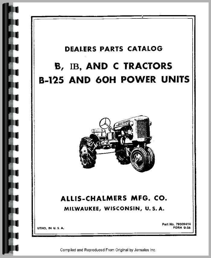 Allis Chalmers Ib Tractor Parts Manual
