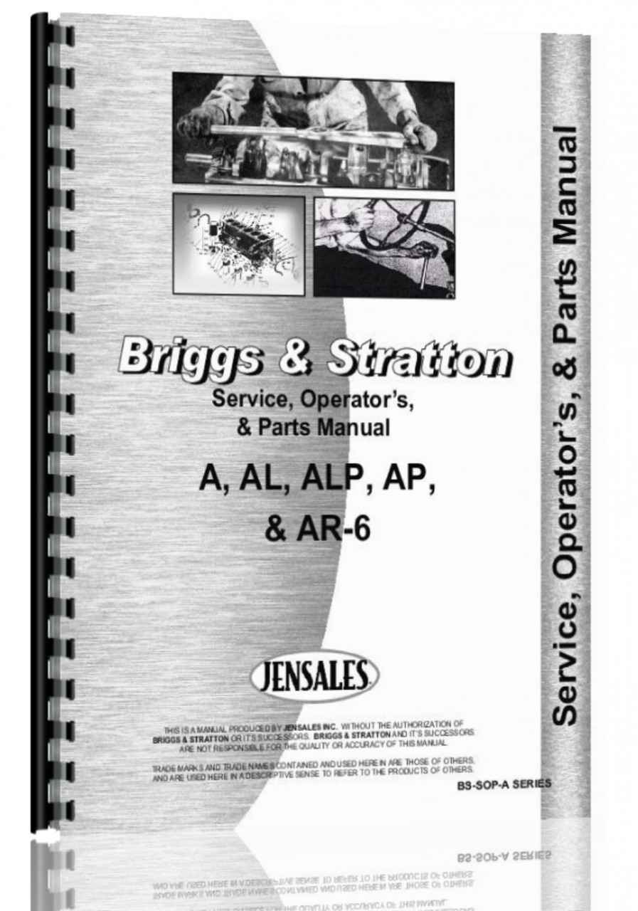 briggs and stratton a  al  alp  ap  ar 6 engine service manual briggs and stratton engine service manual pdf Briggs Stratton User Manual