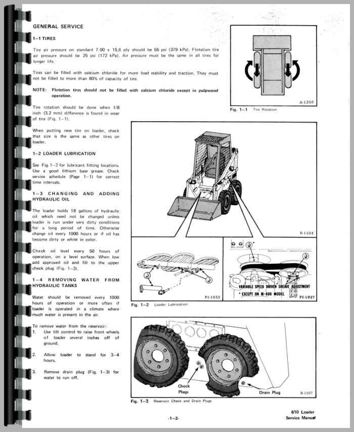 bobcat 610 skid steer loader service manual