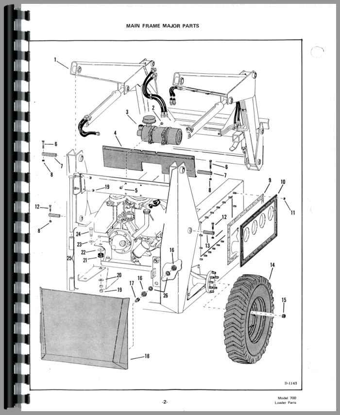 Bobcat 700 Skid Steer Loader Parts Manual