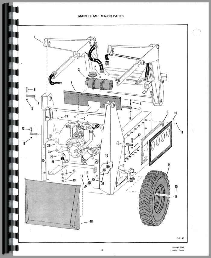 Bobcat 722 Skid Steer Loader Parts Manual