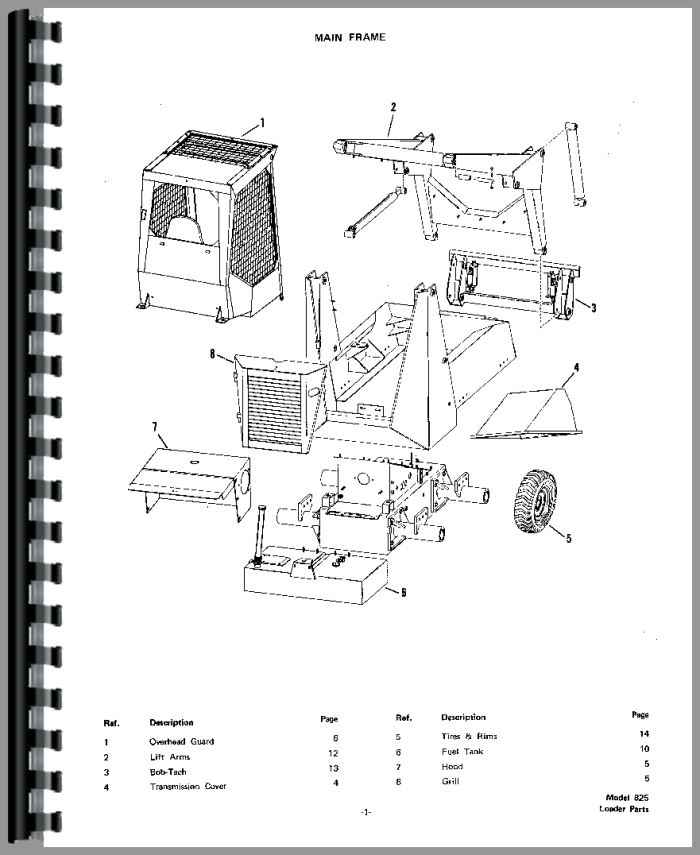 bobcat loader parts diagram bobcat skid steer loader parts diagram