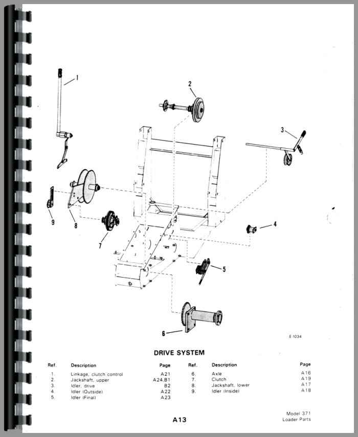 Bobcat M 371 Skid Steer Loader Parts Manual Htbc Pm371440
