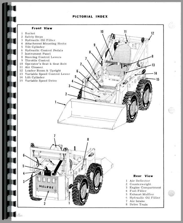 bobcat loader parts diagram