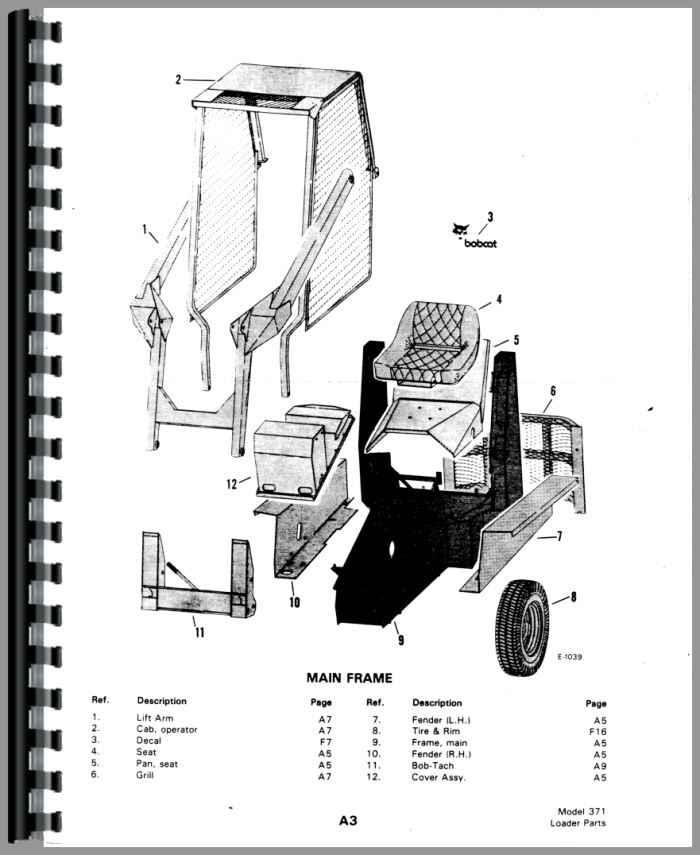 Bobcat M-700 Skid Steer Loader Parts Manual (HTBC-PM371440)
