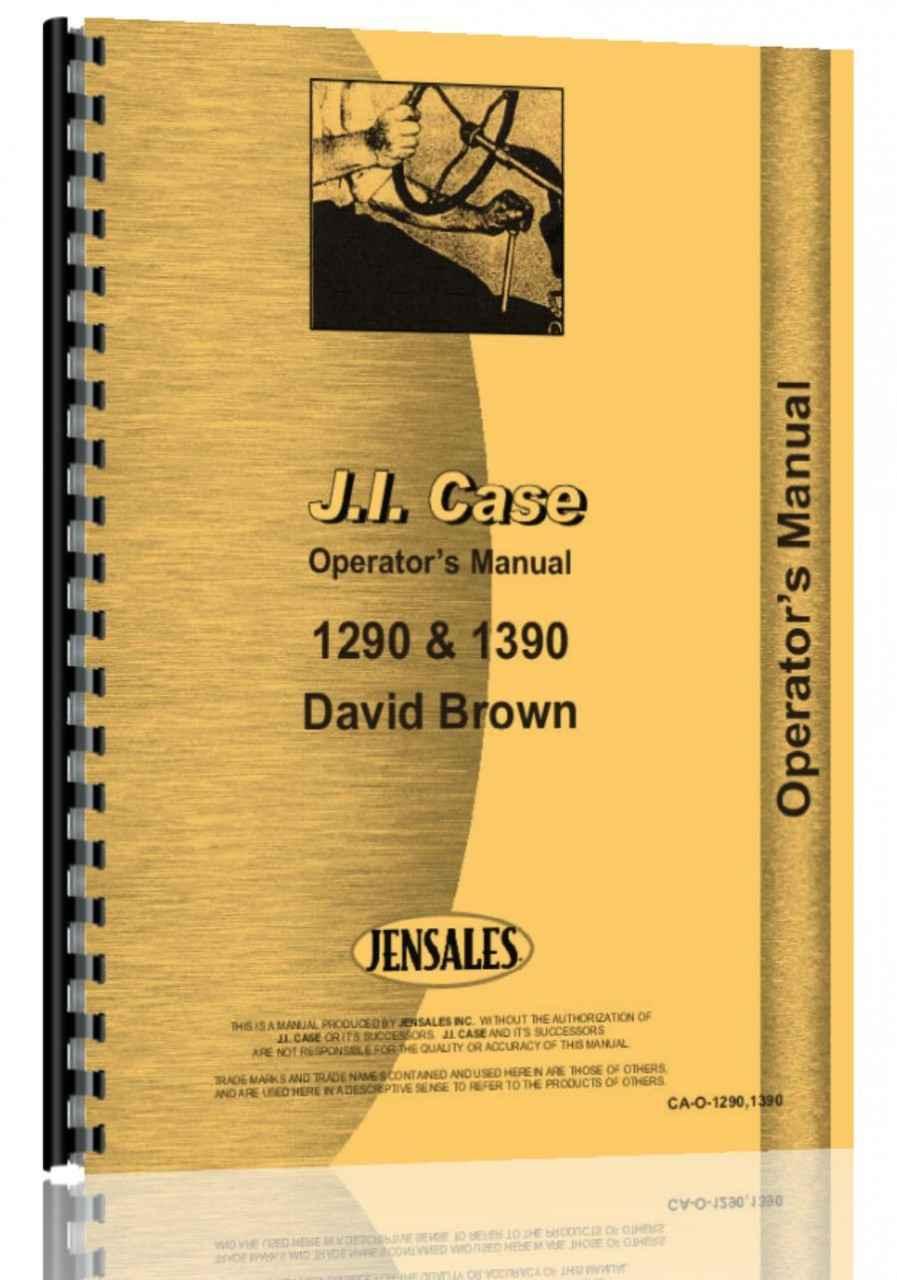 Case 1290 Tractor Operators Manual (HTCA-O12901390)
