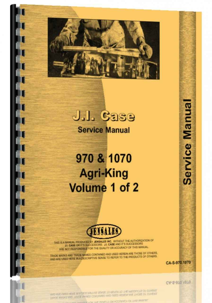Case 1070 Tractor Service Manual (HTCA-S9701070)