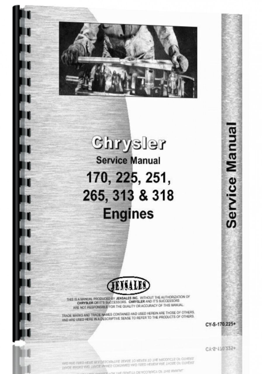 Hesston 6450 Windrower Chrysler Engine Service Manual (HTCY-S170225)