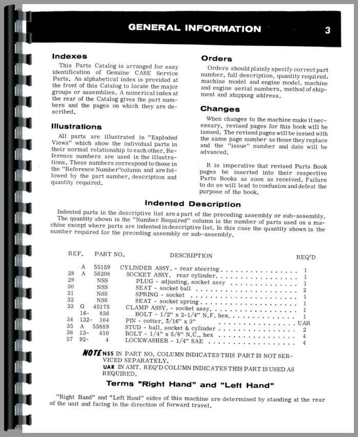 CASE 1070 TRACTOR PARTS MANUAL ASSEMBLY CATALOG EXPLODED VIEWS