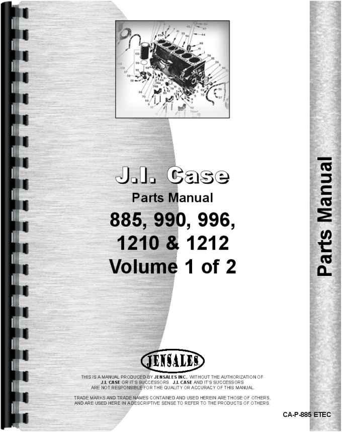 Case 1210 Tractor Parts : Case tractor parts manual