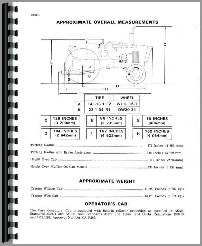 case 1370 tractor service manual rh agkits com Case 770 Tractor Case 1170