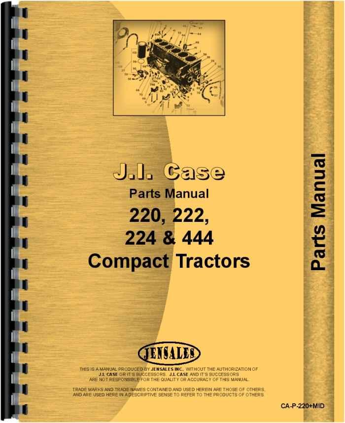 Case 222 Garden Tractor Parts : Case lawn garden tractor parts manual