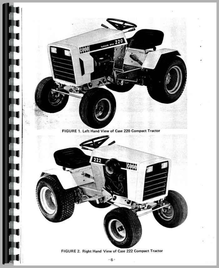 Case 224 Parts : Case lawn garden tractor operators manual