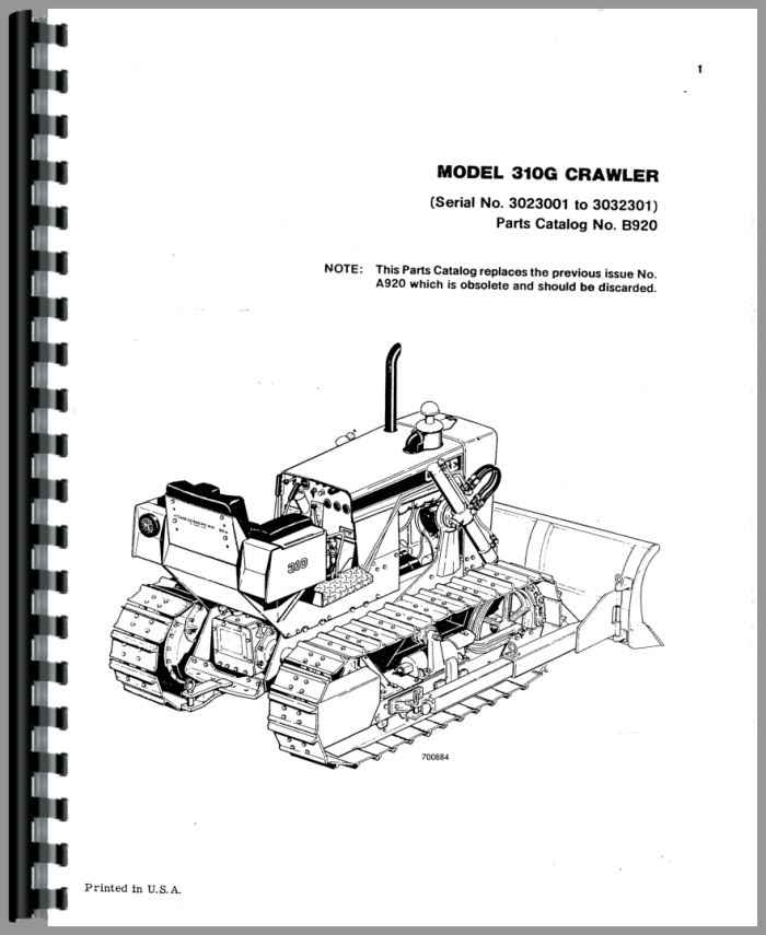case 310g crawler parts manual