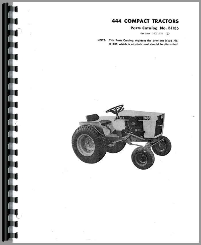 case 444 lawn garden tractor parts manual rh agkits com case 210 garden tractor manual 446 case garden tractor manual