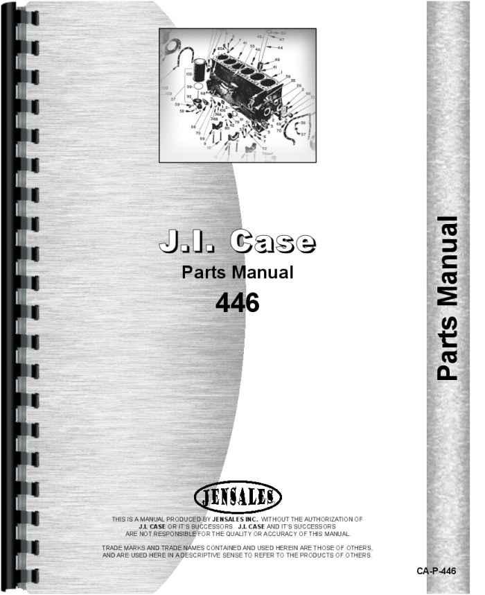 Case 446 Parts : Case lawn garden tractor parts manual