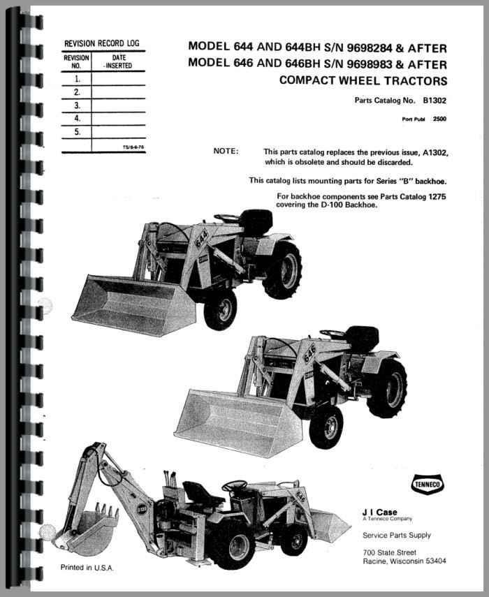 Case 644 Lawn  U0026 Garden Tractor Parts Manual