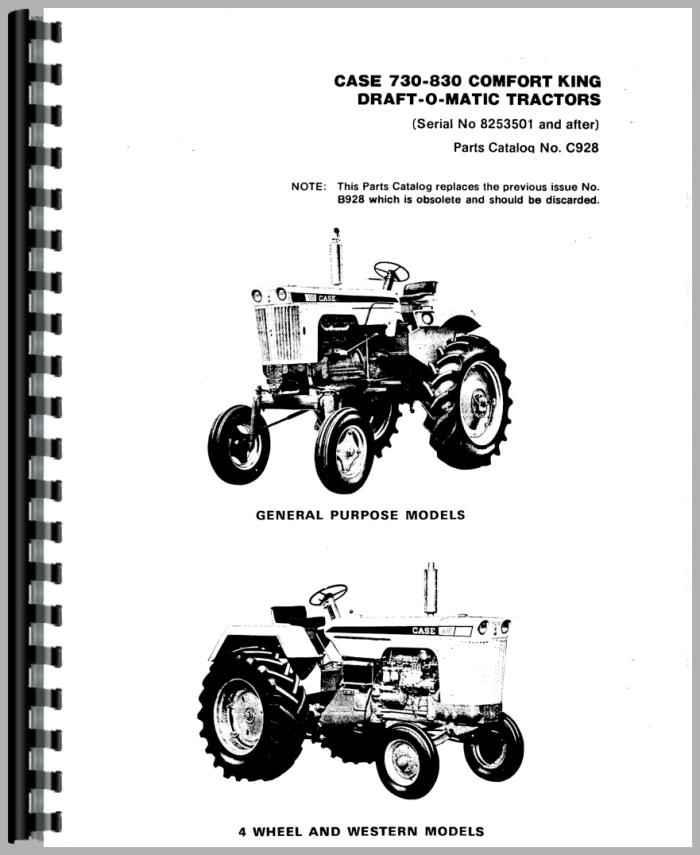 Case 840 Tractor Parts Manual