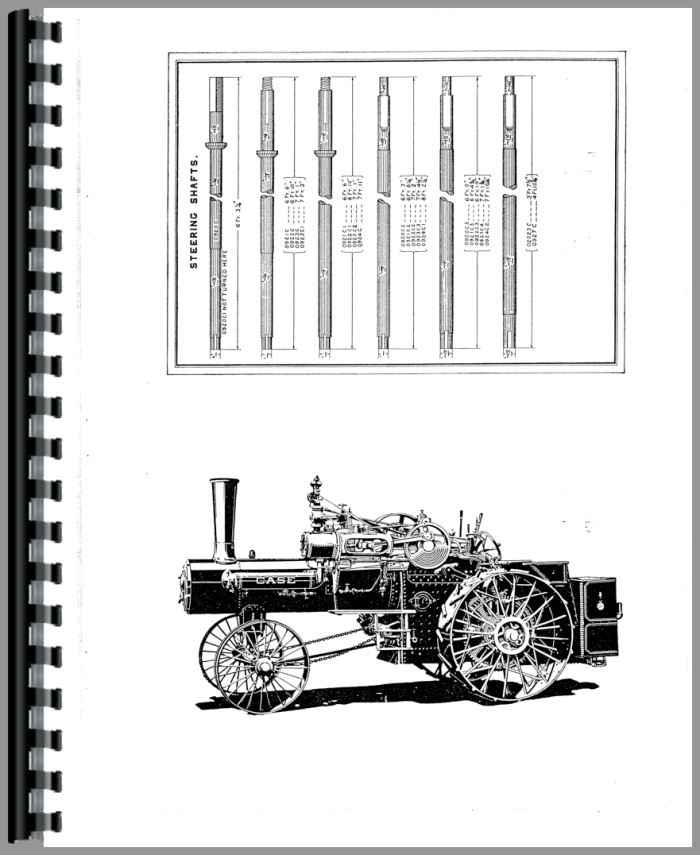 Case Steam Tractor Parts Manual