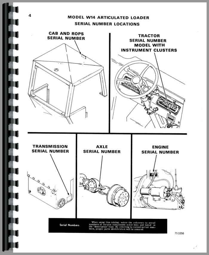 case w14 wheel loader parts manual