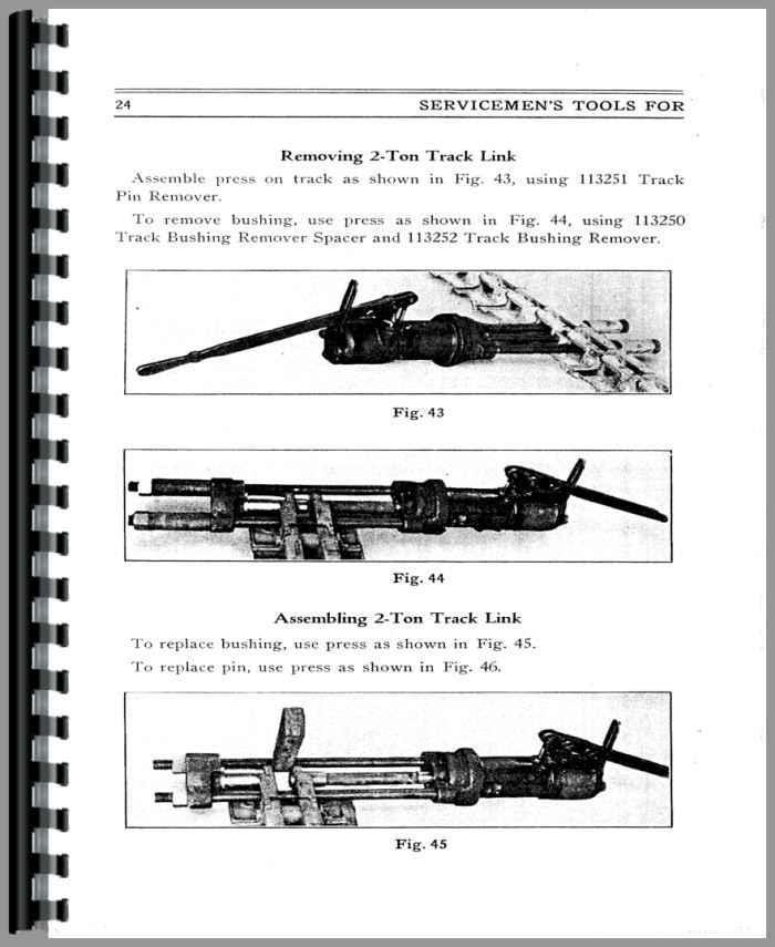Caterpillar 30 Crawler Tools Service Manual