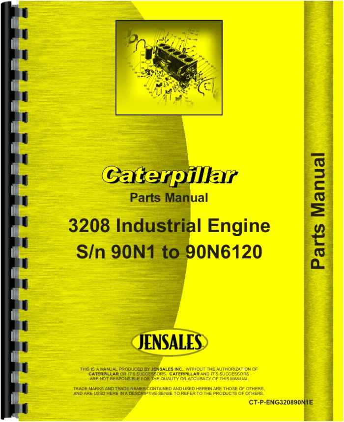 Caterpillar 3208 Engine Parts Manual