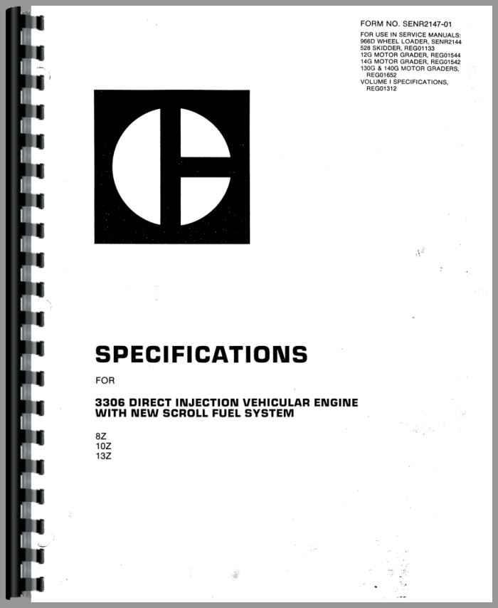 caterpillar 3306 engine service manual rh agkits com manual tecnico motor caterpillar 3306 manual motor caterpillar 3306 en español