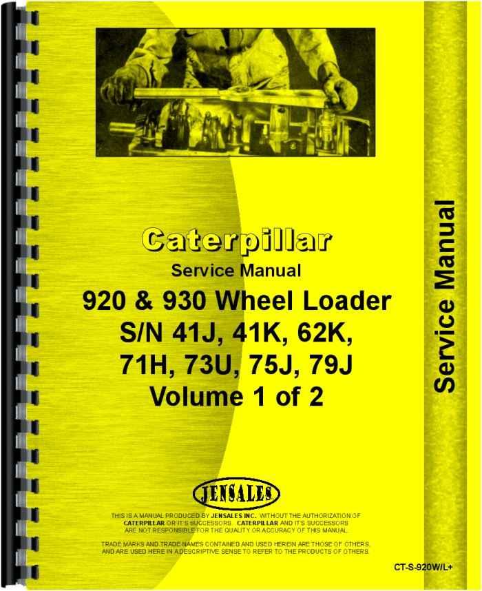 caterpillar 930 wheel loader service manual rh agkits com 825G Cat cat 930h service manual