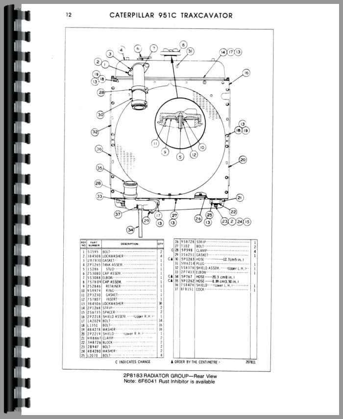 Caterpillar 951C Traxcavator Parts Manual (HTCT-P951CTX86J)