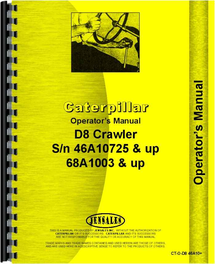 Caterpillar D8h Crawler Operators Manualrhagkits: Thomas Skidder Wiring Diagram At Gmaili.net