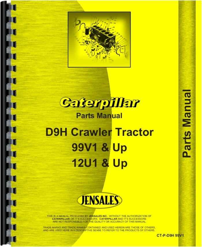 Caterpillar D9h Crawler Parts Manual Htctpd9h99v1: Cat 257b Wiring Diagram At Executivepassage.co