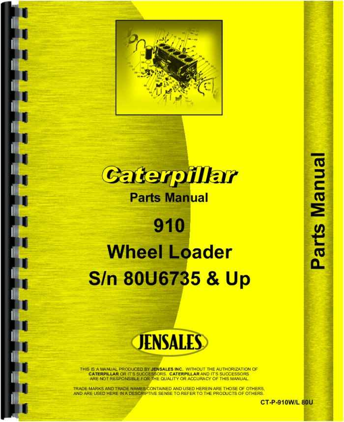 Caterpillar 910 Wheel Loader Parts Manual