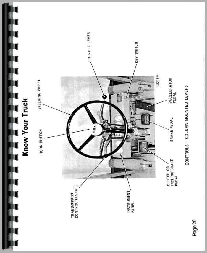Clark C500    Y40   Y55 Forklift Operators Manual